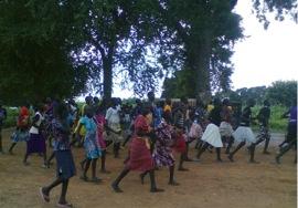 Girls celebrating Kuach Nya