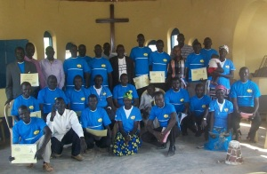 With HIV/AIDS and Christian Family Life trainees from Rumbek area (Nicola was the photographer)