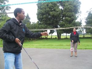 Volleyball net can be used for badminton