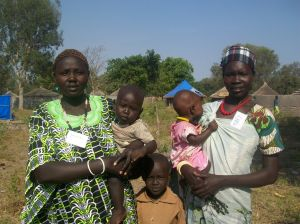 Mary and Martha come with their babies, but remain active participants of our trainings