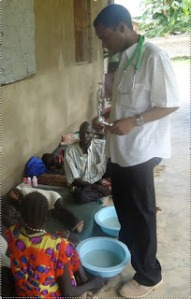 Checking with patients at IDAT clinic in September 2011.