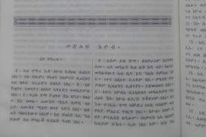 A section from the first chapter of the Book of Job in Tigrigna.