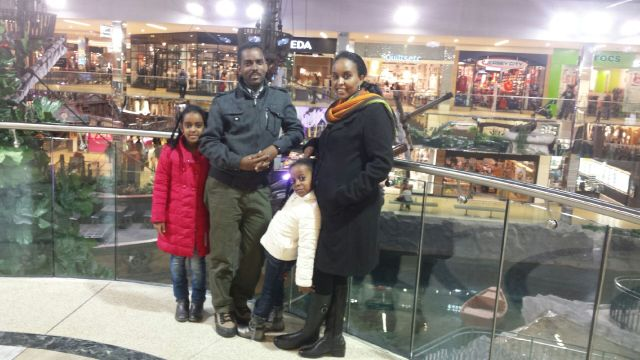 One week old in Canada visiting West Edmonton Mall - it is Amazing
