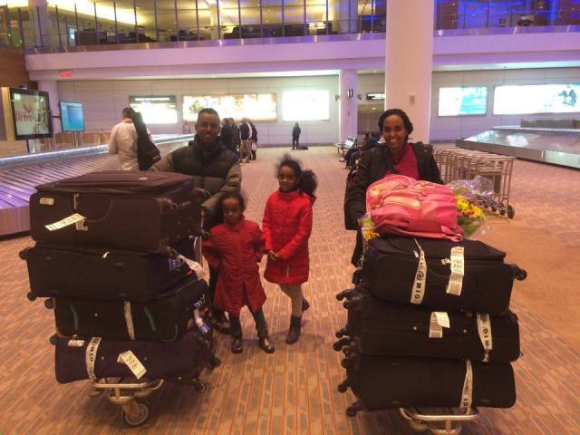 Our arrival at Winnipeg Richardson International Airport on Feb 23, 2016